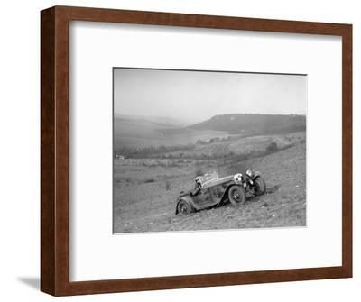 HRG competing in the London Motor Club Coventry Cup Trial, Knatts Hill, Kent, 1938-Bill Brunell-Framed Photographic Print