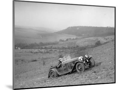 HRG competing in the London Motor Club Coventry Cup Trial, Knatts Hill, Kent, 1938-Bill Brunell-Mounted Photographic Print