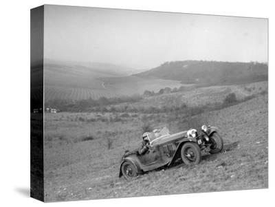 HRG competing in the London Motor Club Coventry Cup Trial, Knatts Hill, Kent, 1938-Bill Brunell-Stretched Canvas Print