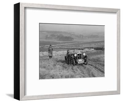 MG M type of J Easonsmith competing in the MCC Sporting Trial, 1930-Bill Brunell-Framed Photographic Print