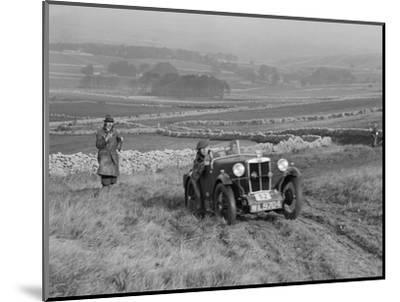 MG M type of J Easonsmith competing in the MCC Sporting Trial, 1930-Bill Brunell-Mounted Photographic Print