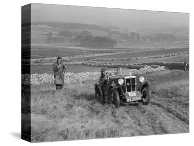 MG M type of J Easonsmith competing in the MCC Sporting Trial, 1930-Bill Brunell-Stretched Canvas Print