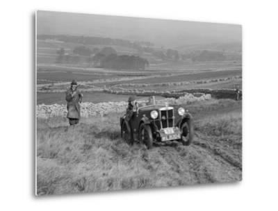 MG M type of J Easonsmith competing in the MCC Sporting Trial, 1930-Bill Brunell-Metal Print