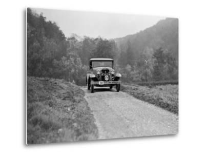 Ford Model A of EAL Midgely competing in the MCC Sporting Trial, 1930-Bill Brunell-Metal Print
