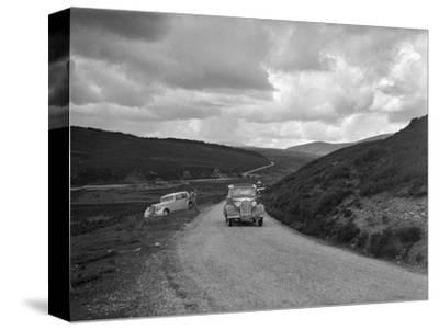 Vauxhall of Dr AT Halton competing in the RSAC Scottish Rally, 1936-Bill Brunell-Stretched Canvas Print