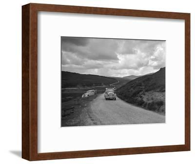 Vauxhall of Dr AT Halton competing in the RSAC Scottish Rally, 1936-Bill Brunell-Framed Photographic Print