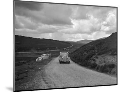 Vauxhall of Dr AT Halton competing in the RSAC Scottish Rally, 1936-Bill Brunell-Mounted Photographic Print