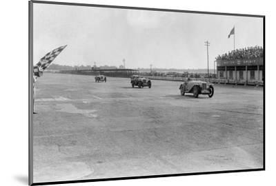 MG Magna of SG Cummings winning a race, BARC meeting, Brooklands, Surrey, 1933-Bill Brunell-Mounted Photographic Print