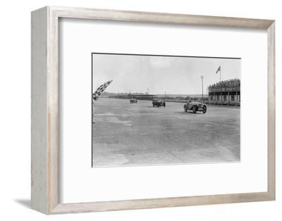 MG Magna of SG Cummings winning a race, BARC meeting, Brooklands, Surrey, 1933-Bill Brunell-Framed Photographic Print