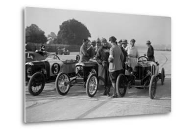 Salmson and two GNs, JCC 200 Mile Race, Brooklands, 1922-Bill Brunell-Metal Print