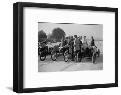 Salmson and two GNs, JCC 200 Mile Race, Brooklands, 1922-Bill Brunell-Framed Photographic Print