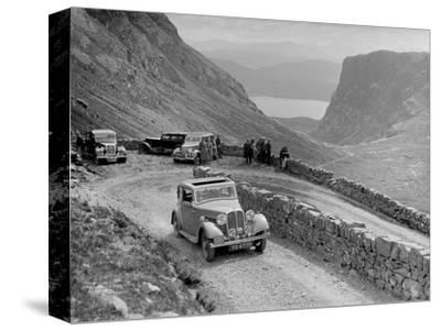 Rover 4-door saloon of IH Mackay competing in the RSAC Scottish Rally, 1936-Bill Brunell-Stretched Canvas Print