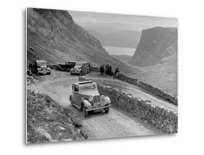 Rover 4-door saloon of IH Mackay competing in the RSAC Scottish Rally, 1936-Bill Brunell-Metal Print