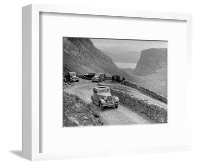 Rover 4-door saloon of IH Mackay competing in the RSAC Scottish Rally, 1936-Bill Brunell-Framed Photographic Print