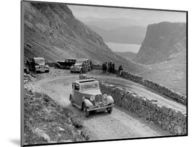 Rover 4-door saloon of IH Mackay competing in the RSAC Scottish Rally, 1936-Bill Brunell-Mounted Photographic Print