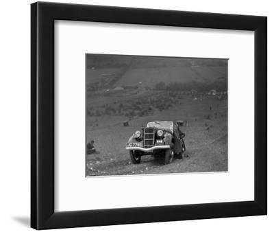 Ford Model C Ten competing in the London Motor Club Coventry Cup Trial, Knatts Hill, Kent, 1938-Bill Brunell-Framed Photographic Print