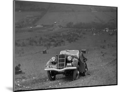 Ford Model C Ten competing in the London Motor Club Coventry Cup Trial, Knatts Hill, Kent, 1938-Bill Brunell-Mounted Photographic Print