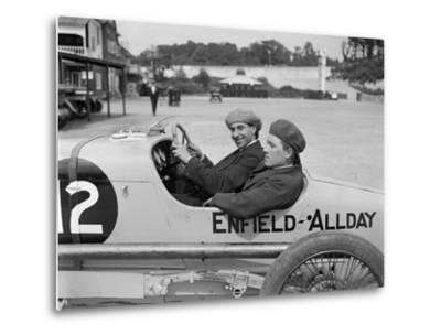 Enfield-Allday of Woolf Barnato at the JCC 200 Mile Race, Brooklands, 1922-Bill Brunell-Metal Print