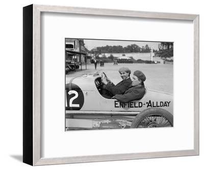 Enfield-Allday of Woolf Barnato at the JCC 200 Mile Race, Brooklands, 1922-Bill Brunell-Framed Photographic Print