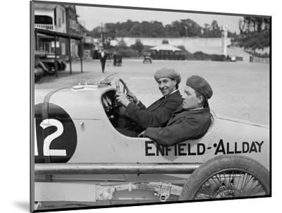 Enfield-Allday of Woolf Barnato at the JCC 200 Mile Race, Brooklands, 1922-Bill Brunell-Mounted Photographic Print