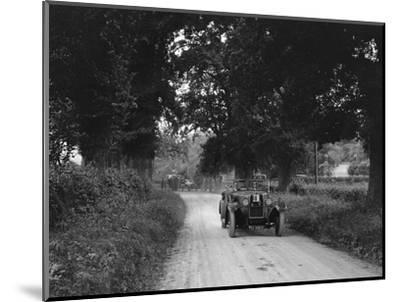 Talbot 18 - 55 4-seater tourer competing in the JCC Inter-Centre Rally, 1932-Bill Brunell-Mounted Photographic Print