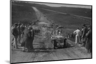 1934 MG PA competing in a motoring trial, Bagshot Heath, Surrey, 1930s-Bill Brunell-Mounted Photographic Print