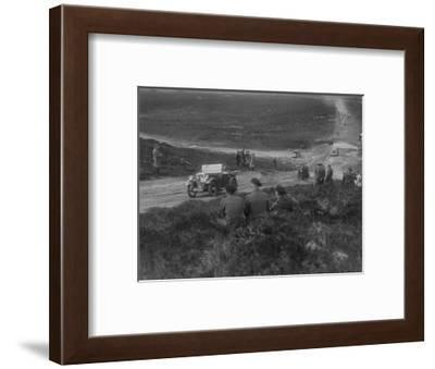Morris Minor competing in a motoring trial, Bagshot Heath, Surrey, 1930s-Bill Brunell-Framed Photographic Print