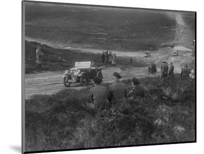 Morris Minor competing in a motoring trial, Bagshot Heath, Surrey, 1930s-Bill Brunell-Mounted Photographic Print