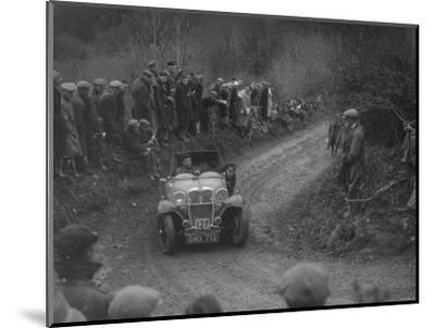Singer of SGE Tett competing in the MCC Lands End Trial, 1935-Bill Brunell-Mounted Photographic Print