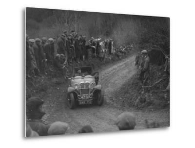 Singer of SGE Tett competing in the MCC Lands End Trial, 1935-Bill Brunell-Metal Print