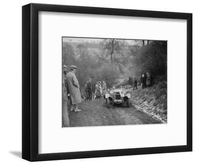 Frazer-Nash Boulogne II of P Lees competing in the Sunbac Colmore Trial, Gloucestershire, 1933-Bill Brunell-Framed Photographic Print