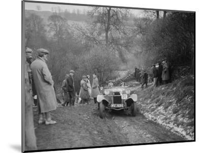 Frazer-Nash Boulogne II of P Lees competing in the Sunbac Colmore Trial, Gloucestershire, 1933-Bill Brunell-Mounted Photographic Print