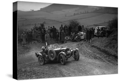 Frazer-Nash TT replica of TN Clare competing in the MG Car Club Midland Centre Trial, 1938-Bill Brunell-Stretched Canvas Print