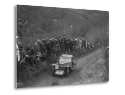 MG J2 of GN Mansell competing in the MCC Lands End Trial, 1935-Bill Brunell-Metal Print