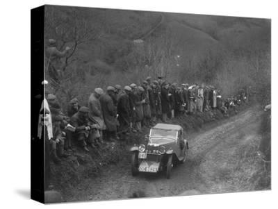 MG J2 of GN Mansell competing in the MCC Lands End Trial, 1935-Bill Brunell-Stretched Canvas Print