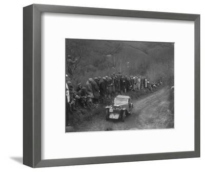 MG J2 of GN Mansell competing in the MCC Lands End Trial, 1935-Bill Brunell-Framed Photographic Print