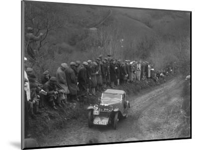 MG J2 of GN Mansell competing in the MCC Lands End Trial, 1935-Bill Brunell-Mounted Photographic Print