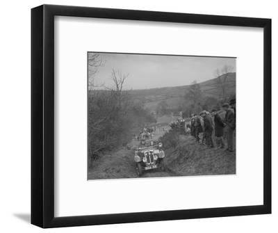 Austin 7 Grasshopper of CD Buckley competing at the MG Car Club Midland Centre Trial, 1938-Bill Brunell-Framed Photographic Print