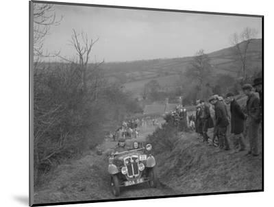 Austin 7 Grasshopper of CD Buckley competing at the MG Car Club Midland Centre Trial, 1938-Bill Brunell-Mounted Photographic Print
