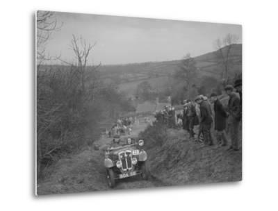 Austin 7 Grasshopper of CD Buckley competing at the MG Car Club Midland Centre Trial, 1938-Bill Brunell-Metal Print