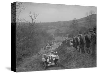 Austin 7 Grasshopper of CD Buckley competing at the MG Car Club Midland Centre Trial, 1938-Bill Brunell-Stretched Canvas Print