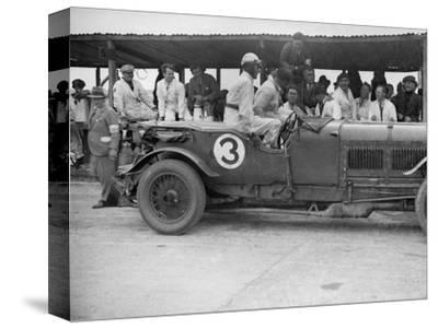 Winning Bentley of Jack Dunfee and Woolf Barnato, BARC 6-Hour Race, Brooklands, Surrey, 1929-Bill Brunell-Stretched Canvas Print