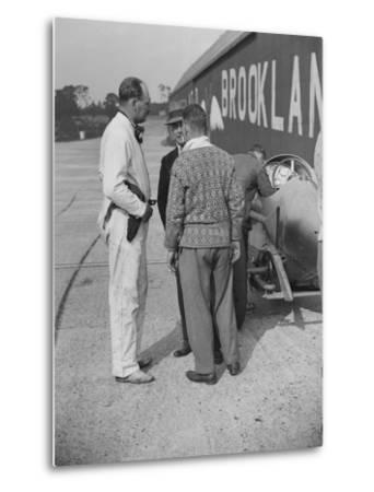 Surbiton Motor Club race meeting, Brooklands, Surrey, 1928-Bill Brunell-Metal Print