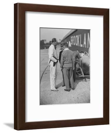 Surbiton Motor Club race meeting, Brooklands, Surrey, 1928-Bill Brunell-Framed Photographic Print