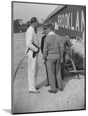Surbiton Motor Club race meeting, Brooklands, Surrey, 1928-Bill Brunell-Mounted Photographic Print