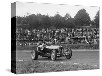 ERA of Raymond Mays racing at Crystal Palace, London, 1939-Bill Brunell-Stretched Canvas Print
