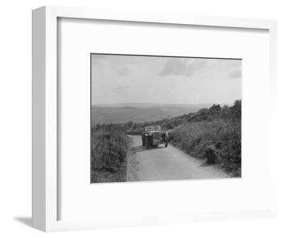 MG TA of WJ Green competing in the MCC Torquay Rally, 1938-Bill Brunell-Framed Photographic Print