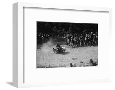 Rudge-Whitworth and sidecar of FV Garratt competing in the MCC Edinburgh Trial, 1930-Bill Brunell-Framed Photographic Print