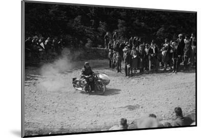 Rudge-Whitworth and sidecar of FV Garratt competing in the MCC Edinburgh Trial, 1930-Bill Brunell-Mounted Photographic Print