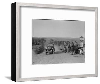 Morris of HG Smith, MCC Lands End Trial, summit of Beggars Roost, Devon, 1933-Bill Brunell-Framed Premium Photographic Print